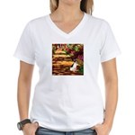 Path / Rat Terrier Women's V-Neck T-Shirt