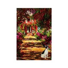 Path / Rat Terrier Rectangle Magnet