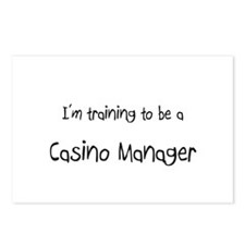 I'm training to be a Casino Manager Postcards (Pac