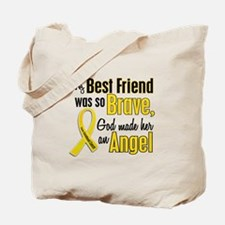Angel 1 BEST FRIEND Child Cancer Tote Bag