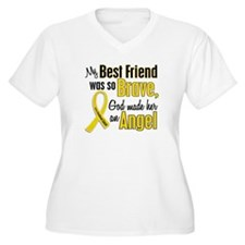 Angel 1 BEST FRIEND Child Cancer T-Shirt