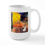 Cafe / Rat Terrier Large Mug
