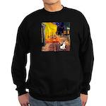 Cafe / Rat Terrier Sweatshirt (dark)