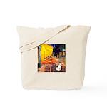 Cafe / Rat Terrier Tote Bag