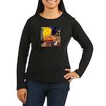 Cafe / Rat Terrier Women's Long Sleeve Dark T-Shir