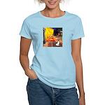 Cafe / Rat Terrier Women's Light T-Shirt