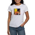 Cafe / Rat Terrier Women's T-Shirt