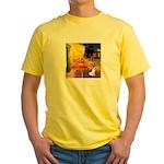 Cafe / Rat Terrier Yellow T-Shirt