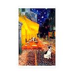 Cafe / Rat Terrier Sticker (Rectangle 50 pk)