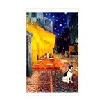 Cafe / Rat Terrier Sticker (Rectangle)