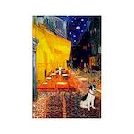 Cafe / Rat Terrier Rectangle Magnet (10 pack)