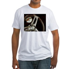 Steering Wheel Fitted T-Shirt