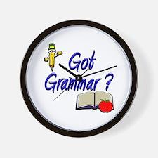 Got Grammar ? Wall Clock