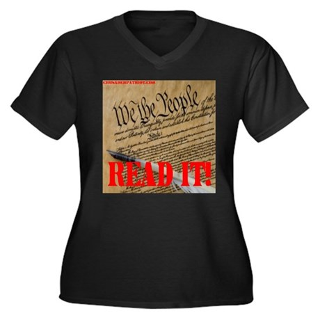READ THE CONSTITUTION! Women's Plus Size V-Neck Da