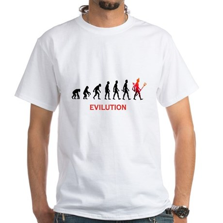 EVILUTION White T-Shirt