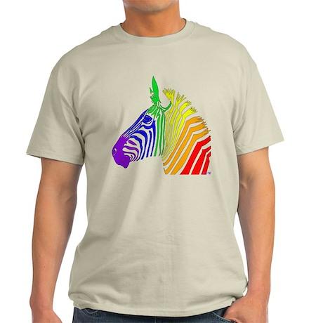 Rainbow Zebra Light T-Shirt