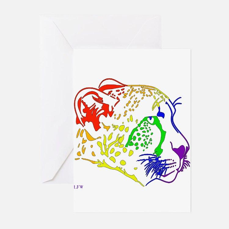 Rainbow Cheetah Greeting Cards (Pk of 20)