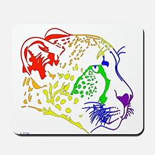 Rainbow Cheetah Mousepad