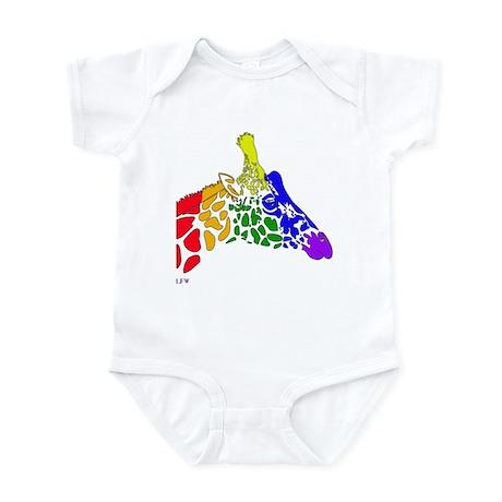 Rainbow Giraffe Infant Bodysuit