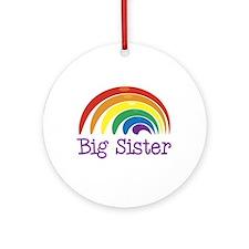 Big Sister Rainbow Ornament (Round)