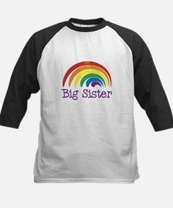 Big Sister Rainbow Kids Baseball Jersey
