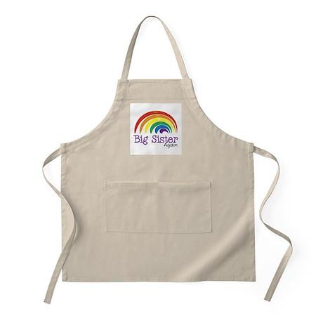 Big Sister Again Rainbow BBQ Apron