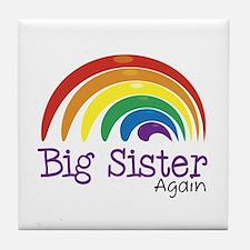 Big Sister Again Rainbow Tile Coaster
