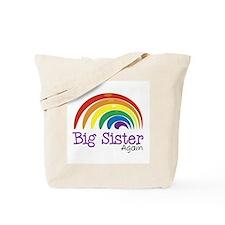 Big Sister Again Rainbow Tote Bag