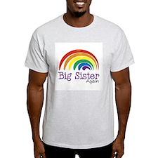 Big Sister Again Rainbow T-Shirt