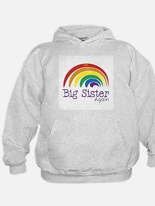 Big Sister Again Rainbow Hoodie