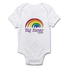 Big Sister Again Rainbow Infant Bodysuit