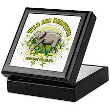 Wild Elephant Keepsake Box