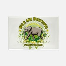 Wild Elephant Rectangle Magnet