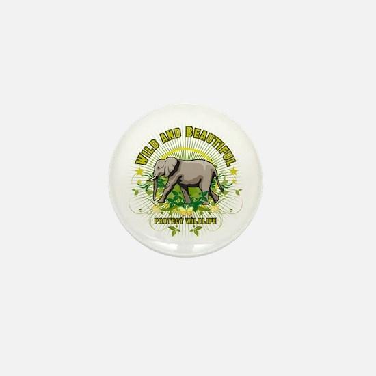 Wild Elephant Mini Button