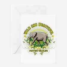 Wild Elephant Greeting Card