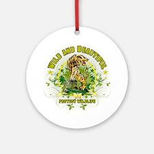 Wild Tiger Ornament (Round)