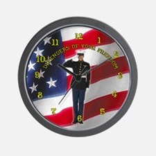 Soldier Salute Wall Clock 10inch