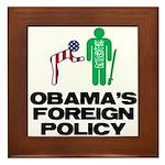 Obama Bow Framed Tile