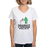 Obama Bow Women's V-Neck T-Shirt