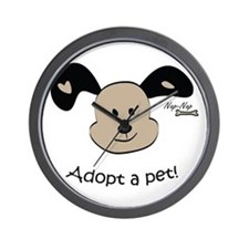 Adopt a Pet! Cute Puppy Design Wall Clock