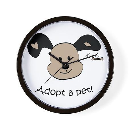 Adopt a Pet! Cute Puppy Design Wall Clock