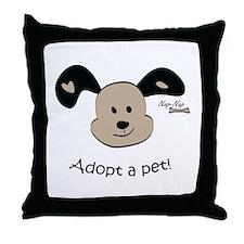 Adopt a Pet! Cute Puppy Design Throw Pillow
