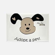 Adopt a Pet! Cute Puppy Design Rectangle Magnet (1
