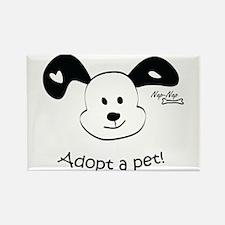Adopt a Pet! Cute Puppy Design Rectangle Magnet