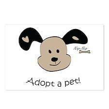 Adopt a Pet! Cute Puppy Design Postcards (Package
