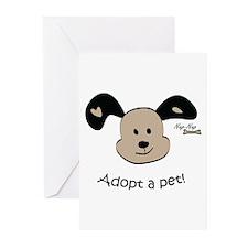 Adopt a Pet! Cute Puppy Design Greeting Cards (Pk