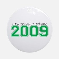 Law School Graduate 2009 (Green) Ornament (Round)