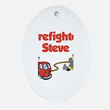Firefighter Steve Oval Ornament