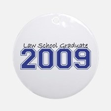Law School Graduate 2009 (Blue) Ornament (Round)