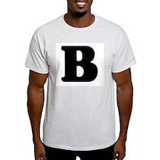 Large Letter B Ash Grey T-Shirt